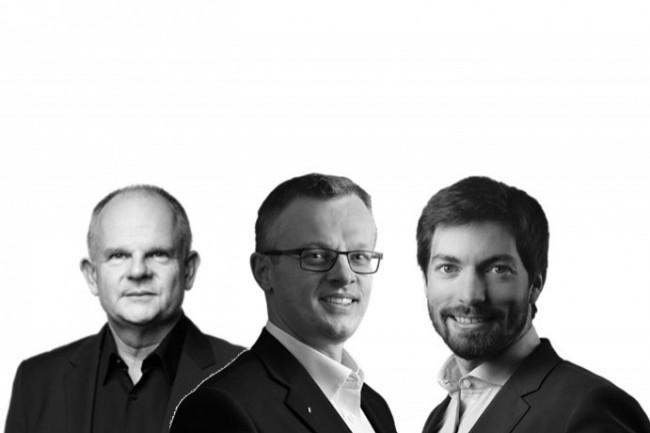 De gauche à droite : Pierre Thomas, Philippe Barthelemy et Jean-François Quevrain, les trois fondateurs de Weinvest Capital Partners.