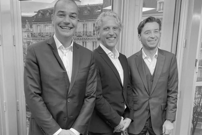 De gauche à droite : François Boulet (associé co-fondateur de HR Path), Christophe Vicari (président de Magnulteam) et Cyril Courtin (associé co-fondateur de HR Path). (Crédit photo : HR Path)