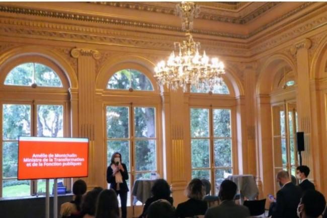 Le programme EIG est soutenu par le département Etalab de la direction interministérielle du numérique sous l'égide d'Amélie de Montchalin (Ci-dessus) ministre de la Transformation et de la Fonction publiques.(Crédit photo: Ministère de la Transformation et de la Fonction publique))
