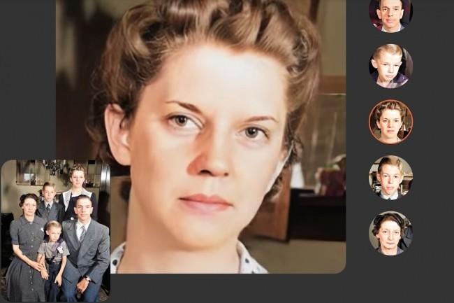 La technologie de la société israélienne D-ID est à l'oeuvre derrière le service Deep Nostalgia de MyHeritage qui anime les photos de votre choix pendant quelques secondes à l'aide du deep learning. Un exemple qui illustre aussi le réalismeque peuvent avoir desimages deep-fakes. (Crédit : MyHeritage)
