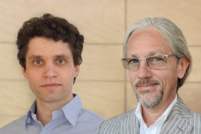 Francesco Bonfiglio (� droite) a �t� nomm� CEO de Gaia-X tandis que Pierre Gronlier en devient le directeur des technologies. (cr�dit : Gaia-X)