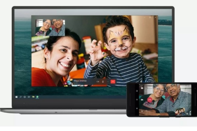 En permettant de lancer des appels video et audio depuis un poste fixe, WhatsApp arrivera-t-il à étendre son usage au-delà de la sphère familiale ? (crédit : WhatsApp)