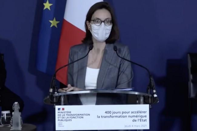 Am�lie de Montchalin, ministre de la Transformation et de la Fonction publiques, est revenue jeudi 4 mars sur les chantiers�de transformation num�rique de l'Etat�en cours. (Cr�dit : Gouvernement)