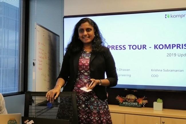 « Il y a une gros focus sur le channel et mettre à l'échelle nos revenus », a fait savoir Krishna Subramanian, co-fondatrice et COO de Komprise. (crédit : Serge Leblal)