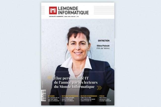 En couverture de notre numéro 3, Elené Poincet PDG et fondatrice de la start-up Tehtris.