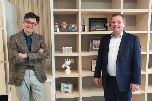 Hervé Troalic (à gauche) vient d'être recruté en tant que directeur de l'activité cybersécurité de Niji, ESN et société de conseil dirigée par Hugues Meili, son PDG (à droite). (Crédit : Niji)