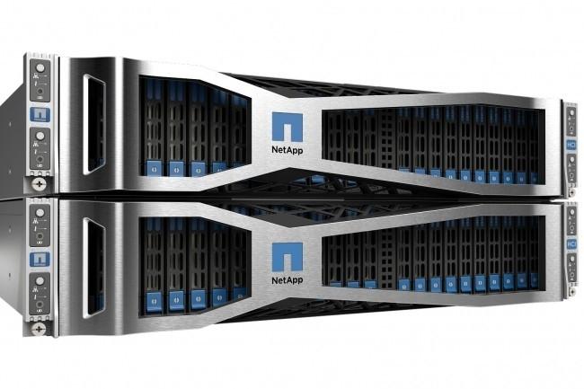 Les appliance HCI de NetApp pouvaient embarquer chacune quatre nœuds dédiés au calcul ou au stockage, avec des baies Solidfire en compélemnt si besoin. .