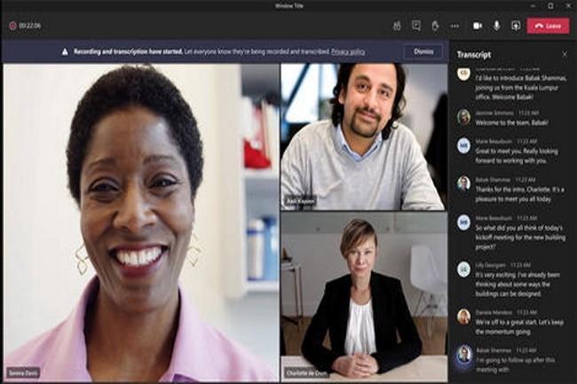 La retranscription en temps réel des réunions Teams arrive mais aux Etats-Unis pour l'instant. (Crédit Photo: Microsoft)
