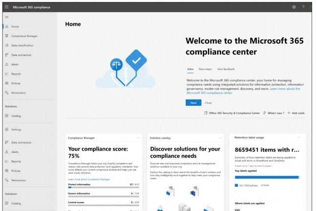 Microsoft 365 intègre des capacités de protection et gouvernance des informations gérées dans ses applications et services. (Crédit : Microsoft)