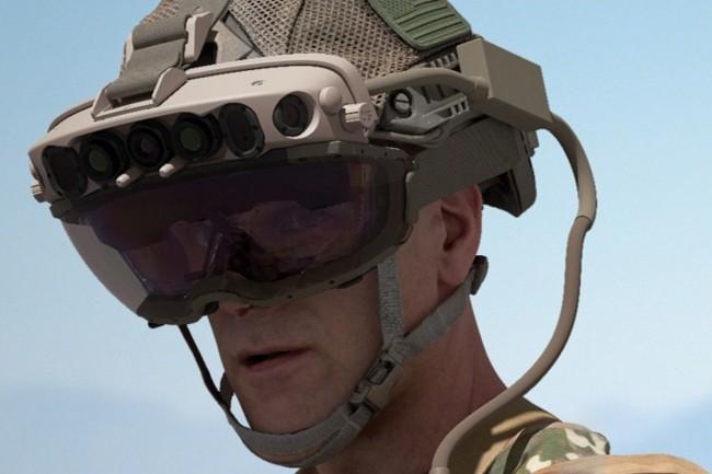 L'utilisation des casques Hololens procure une expérience de réalité immersive mixte fournissant aux forces de combat rapproché des informations sur leur environnement. (Crédit : Microsoft)