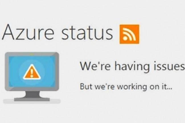 Des services Microsoft Azure ont été indisponibles pendant 1 heure ce 1er avril 2021 à cause d'une panne DNS. (crédit : Microsoft)
