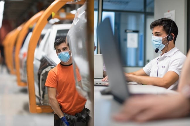 5 ouvriers des lignes d'assemblage Seat ont suivi 4 mois de formation pour devenir développeur (Photo Seat)