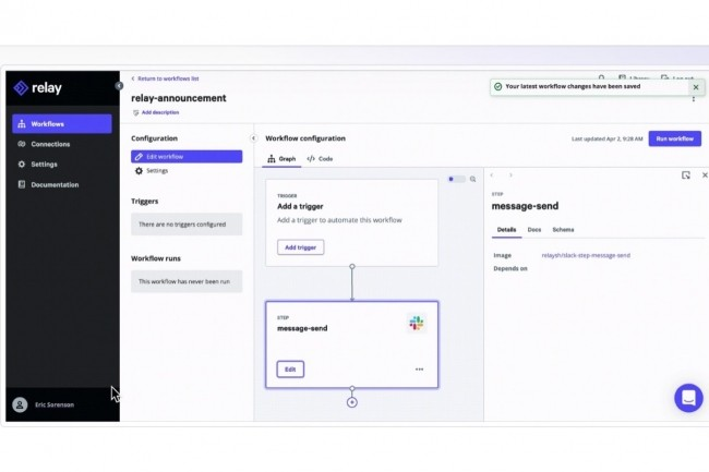 Selon Puppet, la période de beta-test de Relay a montré que les utilisateursapprécientune expérience de création de workflow requérant peu de code sicelle-ci s'insère bien dans leur approche globale d'infrastructure-as-code. (Crédit : Puppet)