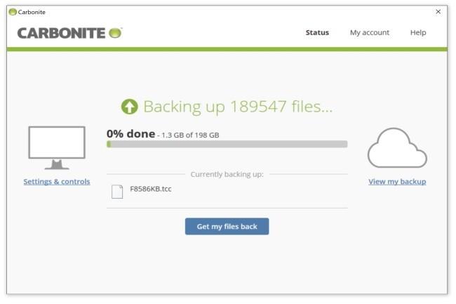 Carbonite Safe est un outil de backup performant et bien intégré dans les environnements Windows. (Crédit Photo: Carbonite)