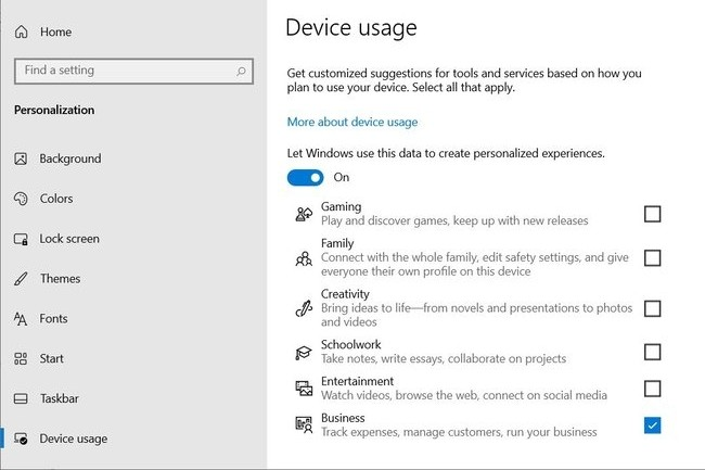 Cette nouvelle fonctionnalité devrait apparaître dans la prochaine mise à jour Windows 10. (Crédit : Microsoft)