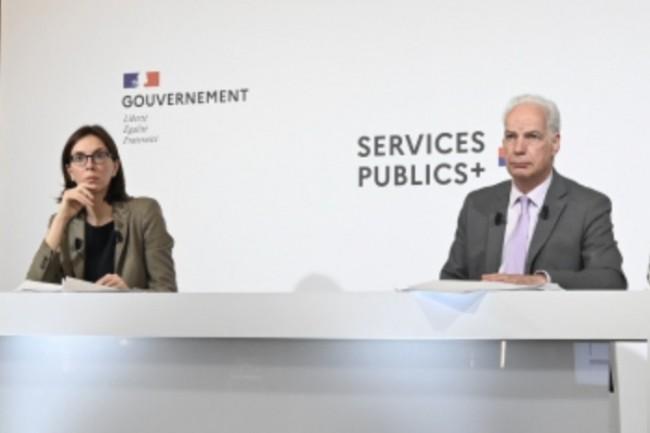 Amélie de Montchalin, ministre de la Transformation et de la Fonction publiques, et Alain Griset, ministre délégué chargé des PME, ont annoncé d'ici fin 2021 un site unique de référence pour l'environnement administratif numérique des entreprises. (Crédit : Gouvernement)