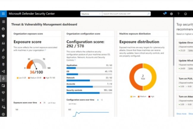 Defender for Endpoint s'intègre à la console de supervision de sécurité de Microsoft, Security Center. (crédit : Microsoft)