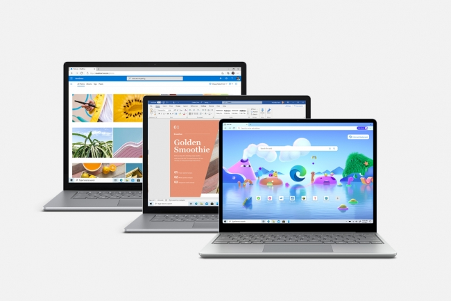 Microsoft annonce une autonomie entre 16,5 et 19 heures pour la Surface Laptop 4. (Crédit : Microsoft)
