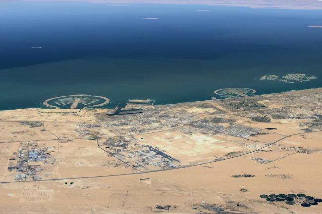 Google Earth accueille une fonction de timelapse pour visualiser dans le temps les évolutions de certaines régions ou villes comme Dubai. (Crédit Photo : Google)