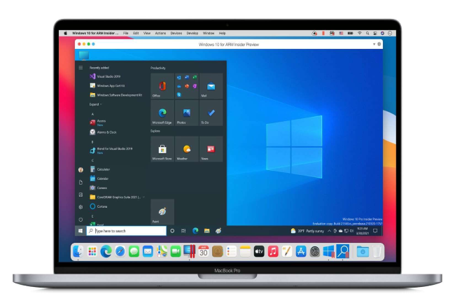 Parallels Desktop pousse Windows 10 ARM sur les Mac M1