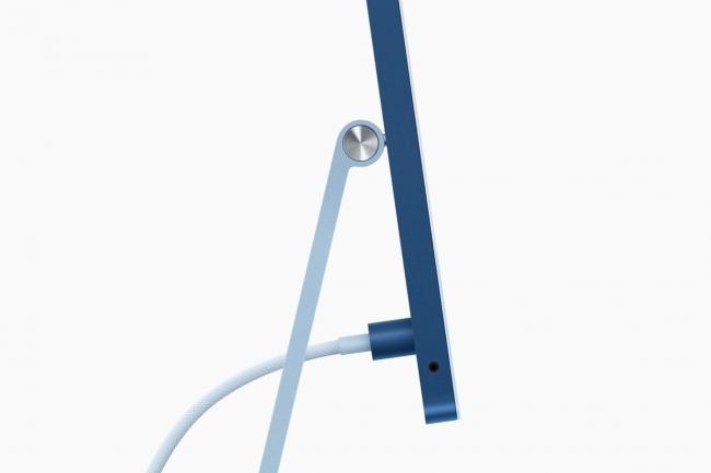 Le connecteur d'alimentation Magsafe arrive sur l'iMac 24 dans une version remani�e. (Cr�dit Apple)
