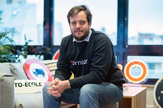 Benjamin Gaignault, co-fondateur d'Ornikar a pour « ambition de devenir un leader mondial de la sécurité routière ». (Crédit : Ornikar)