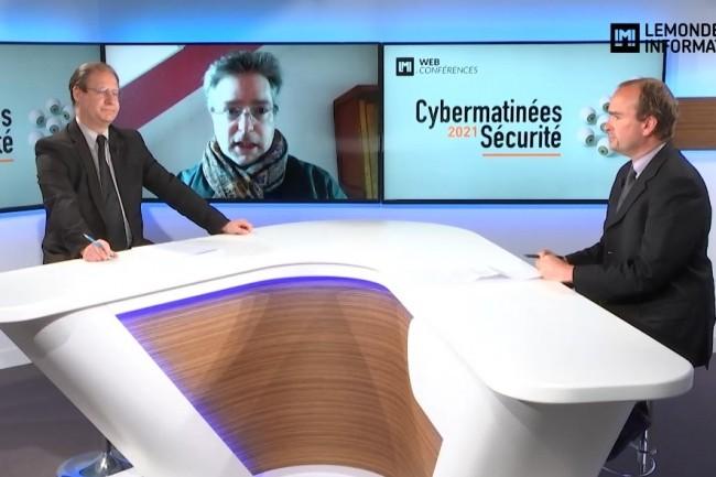Jérôme Pellois, RSSI de La Redoute intervient sur la Cybermatinée Sécurité Hauts de France 2021 du Monde Informatique diffusée le 5 mai 2021. (crédit : LMI)