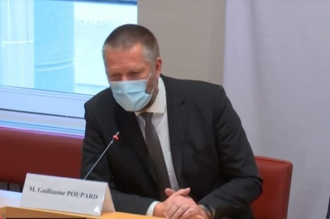 Guillaume Poupard, directeur général de l'Anssi, est intervenu ce jeudi 6 mai 2021 en matinée lors d'une audition menée par la commission des Affaires européennes du Sénat. (crédit : Public Sénat)