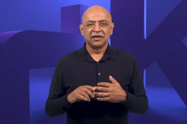 Le CEO d'IBM Irvin Krishna a lancé l'évènement Think avec une forte orientation vers l'IA et le cloud hybride. (Crédit Photo :IBM)