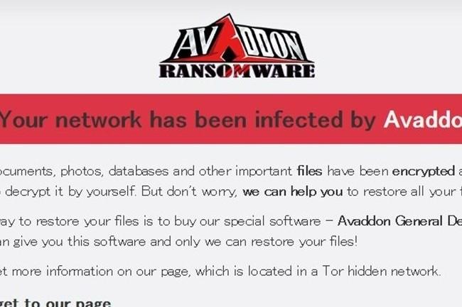 Le groupe Avaddon a revendiqué le vol de 3 To de données. (Crédit Photo: DR)