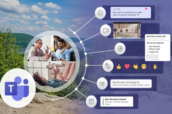 En d�voilant une version de Teams orient�e vers la vie personnelle, Microsoft glisse vers le march� grand public fortement concurrentiel. (Cr�dit Photo : Microsoft)