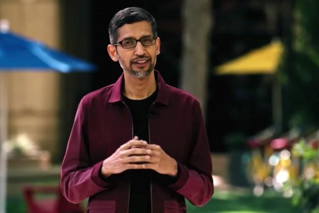 Sundar Picha�, CEO de Google et d'Alphabet, a pr�sent� un aper�u des nouveaut�s et recherches, dont LaMDA, abord�es cette semaine sur la conf�rence Google I/O. (Cr�dit : Google)