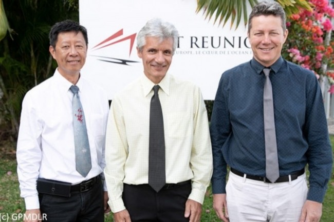Le directoire du Port, de gauche à droite : Gilles Ham-Chou-Chong (directeur général adjoint – directeur des services généraux et juridiques), Eric Legrigeois (directeur général – président du directoire) et Henri Dupuis (directeur exploitation commerce).