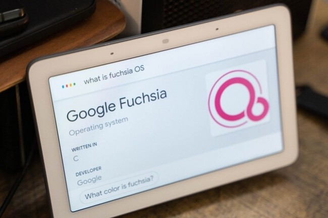 En chantier depuis 2016, Fuchsia atterrira d'abord sur les appareils Nest Hub de Google. (Cr�dit : 9to5Google)