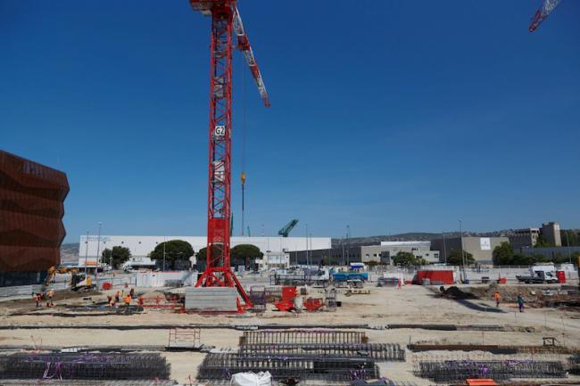 Les travaux de la tranche MSR4 ont d�marr� sur le port maritime de Marseille, un co�t estim� � 125 M�. (Cr�dit Interxion/Baptiste Le Quiniou) )