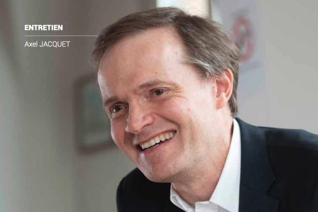 Axel Jacquet, DSI des Apprentis d'Auteuil fait le tour des défis métiers actuels et des nouveaux enjeux soulevés par les évolutions technologiques. (Crédit Bruno Levy)