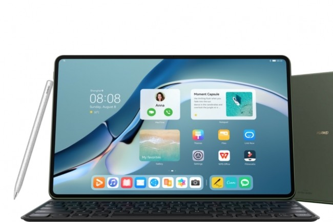 La tablette MatePad Pro 12.6 de Huawei est livrée avec le système d'exploitation HarmonyOS 2. (Crédit : Huawei)