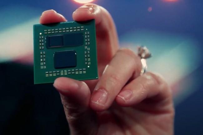 AMD compté améliorer la performance ses puces PC et serveurs avec la 3D V-cache, une mémoire de 192 Mo collée au processeur. (Crédit AMD)