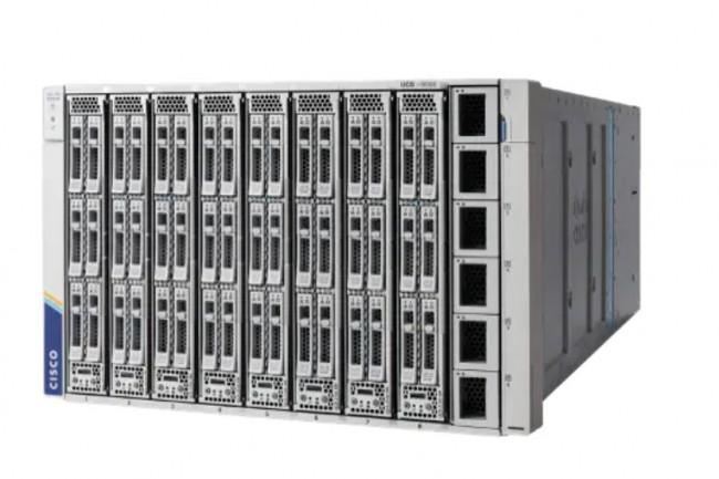 Cisco a annoncé un dernier châssis UCS X9508 au format 7RU. (crédit : Cisco)