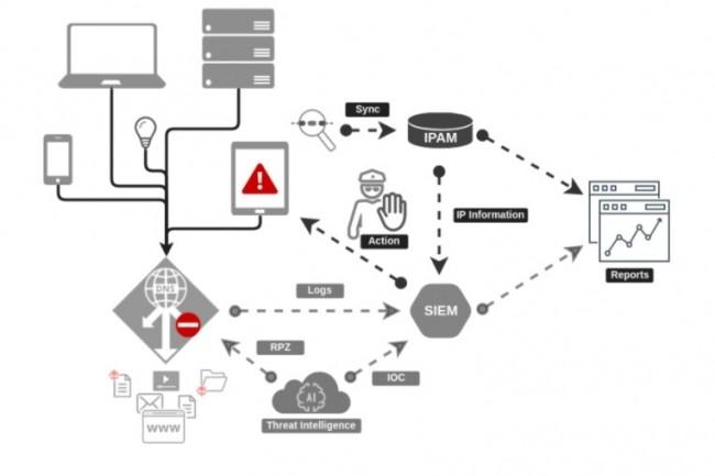 Les composants de sécurité DNS participent au cadre global de sécurité réseau qui doit être envisagé par l'entreprise. (crédit : EfficientIP)