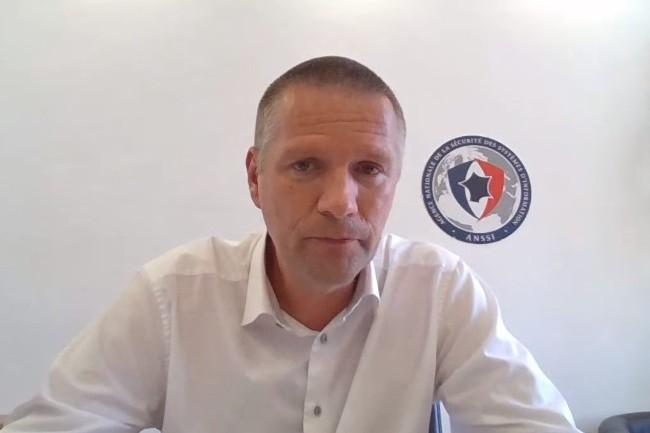 Guillaume Poupard, directeur g�n�ral de l'Anssi lors la pr�sentation du rapport d'activit� 2020 ce jeudi 10 juin 2021. (cr�dit : ANSSI)