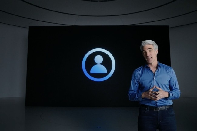 Craig Federighi a pr�sent� lors de la WWDC 2021 les fonctionnalit�s pour renforcer la protection de la vie priv�e. (Cr�dit Photo : IDG)