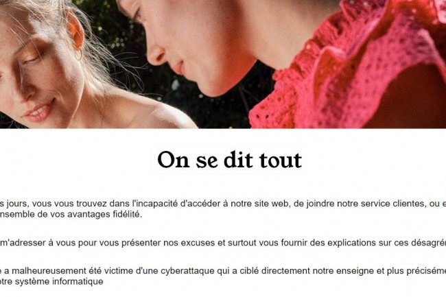Près d'une semaine que le site camaieu.fr est indisponible. (crédit : D.R.)