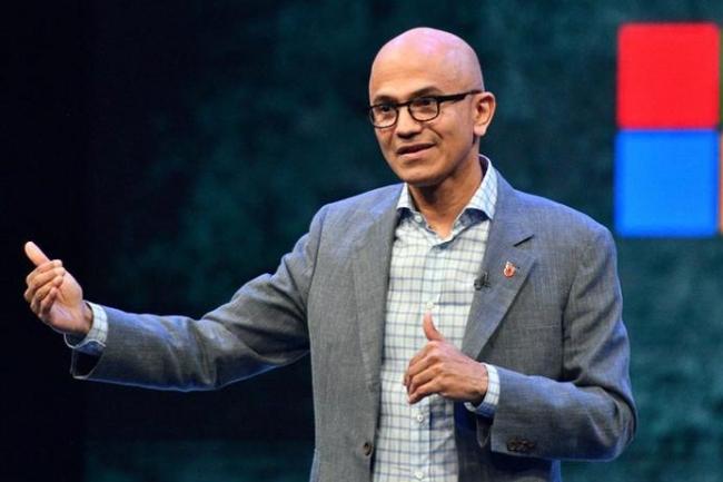 Satya Nadella a succ�d� � Steve Ballmer au poste de CEO de Microsoft au d�but de 2014. (Cr�dit Microsoft)