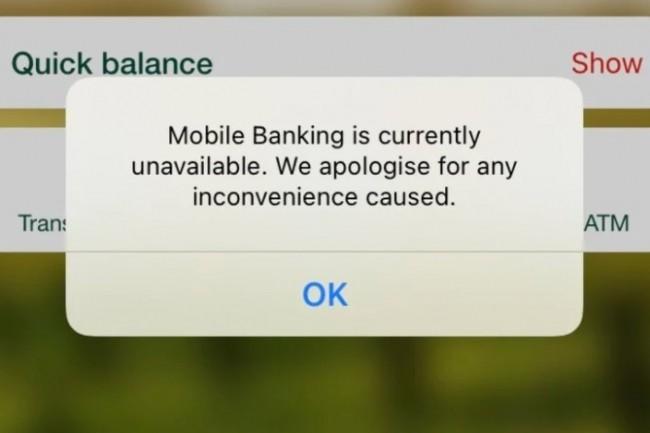 Des millions d'Australiens ont �t� dans l'incapacit� d'acc�der � leurs services et applications bancaires en raison de la panne Akamai. (cr�dit : The Age)