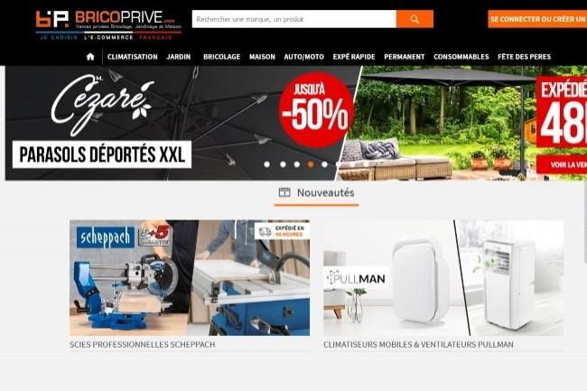 Le site Brico Privé propose des ventes privées en bricolage, décoration, jardinage, etc.