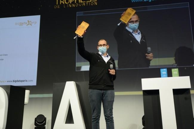 L'an dernier, le Trophée de l'Innovation « Start-up » a été remporté par Fashion Data, plateforme big data de conception d'algorithmes combinant performances économiques et écologiques pour les enseignes de mode. Ci-dessus, son fondateur, Romain Chaumais. (Crédit : LMI/MG)