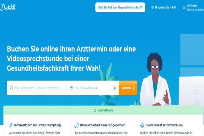 Le site de Doctolib en Allemagne a transmis des donn�es � Facebook et Outbrain. (Cr�dit Photo: DR)