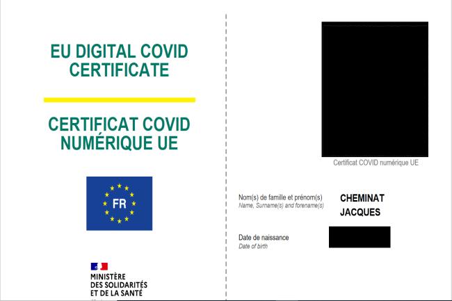 Le pass sanitaire européen peut être généré sur le site ameli de la sécurité sociale. (Crédit Photo : DR)