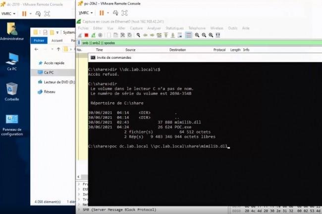 A ce jour, seuls la d�sactivation du spouleur d'impression et le blocage des ports TCP 135 et 445 permettent de se pr�munir de tout risque d'ex�cution de code distant sur la faille CVE-2021-1675. (cr�dit : Marius Sandbu)